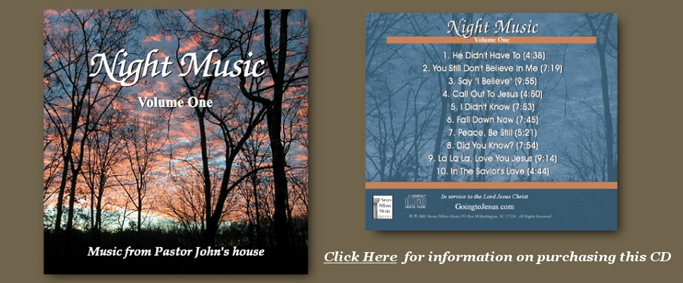 Night Music, Volume 1 CD, From PastorJohnsHouse.com