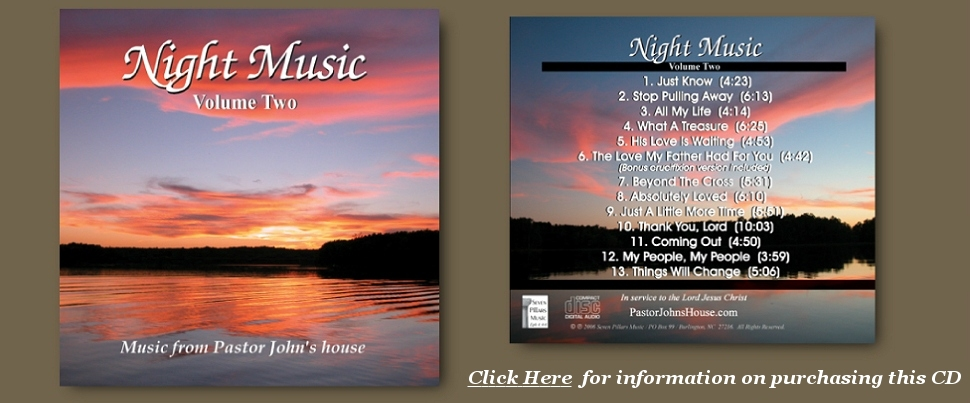 Night Music, Volume 2 CD, From PastorJohnsHouse.com